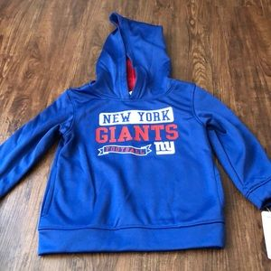 GIANTS! Official NFL Kids Giants hoodie 3T.